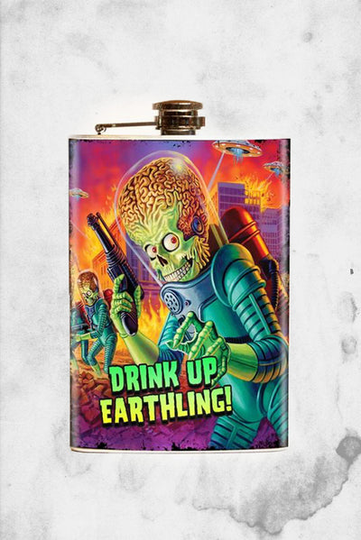 Mars Attacks flask halloween horror classic