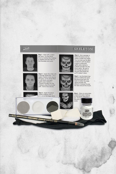 halloween makeup skeleton kit