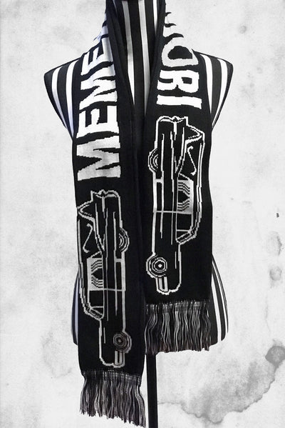 memento mori winter scarf hearse