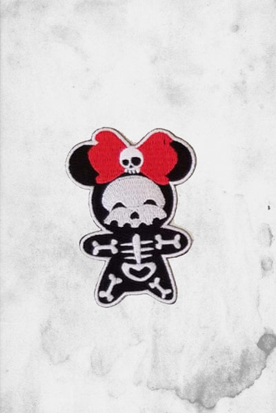 minnie mouse skeleton fantasy halloween patch