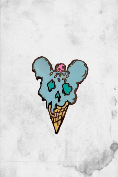 mouse ice cream cone disney fan art enamel pin