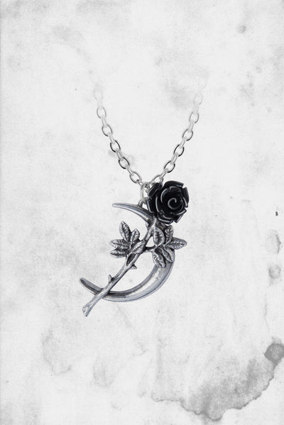 goth themed moon necklace new romance