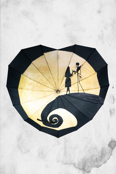 nightmare before christmas heart shaped umbrella