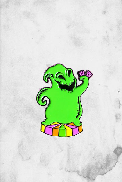 oogie with dice enamel fantasy pin