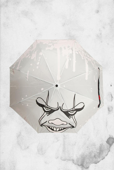 horror themed pennywose IT movie umbrella
