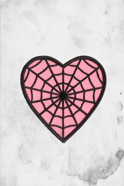 pink webbed heart patch