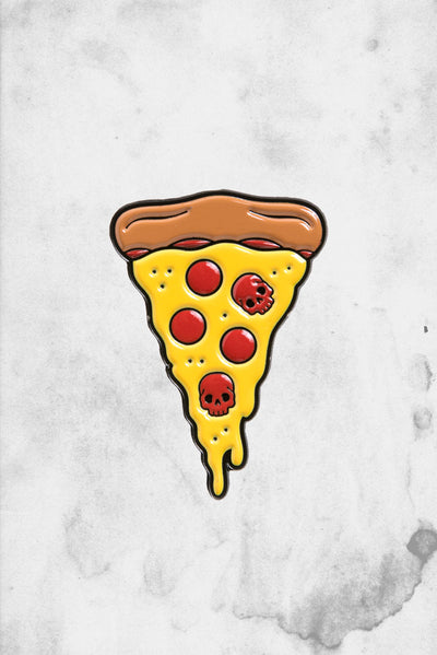 skull pizza pin
