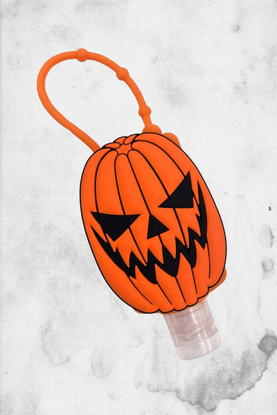 pumpkin jack o lantern hand sanitizer holder