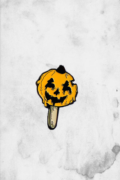 pumpkin ice cream summer enamel pin