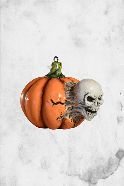 pumpkin skull ornament