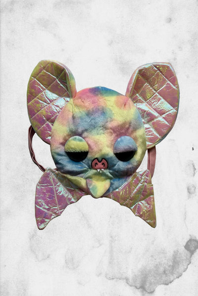 Rainbow plush bat backpack purse kreepsville
