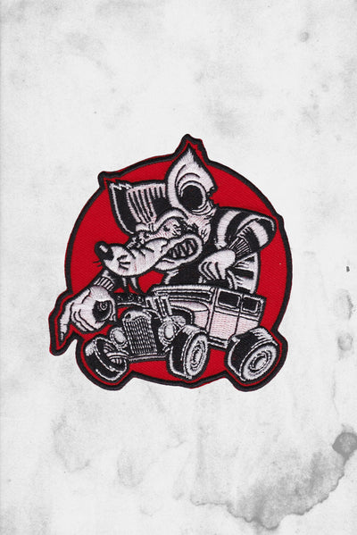 rat rod iron on patch