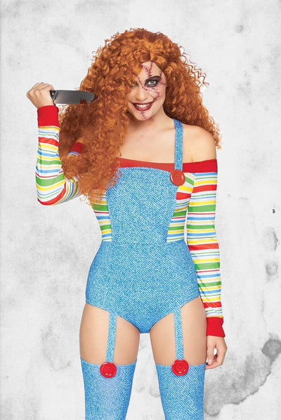 sexy chucky costume goodguy doll female body suite