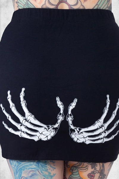 cute skeleton mini skirt