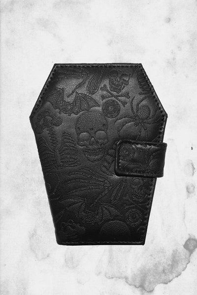 coffin embossed wallet