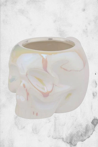 white skull coffee mug killstar