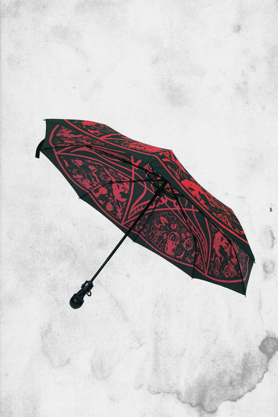 spooky horror themed umbrella