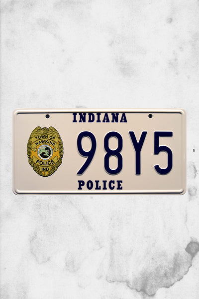 stranger things hopper license plate