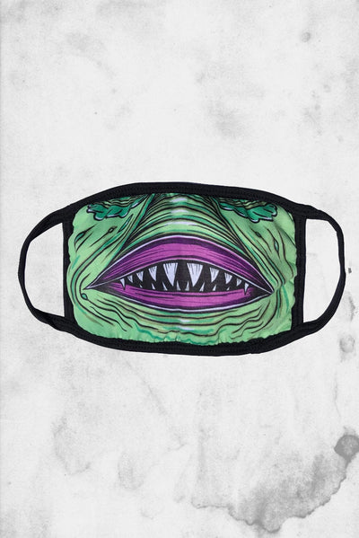 swamp creature horror halloween monster face mask