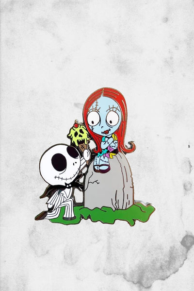 jack and sally fantasy enamel pin