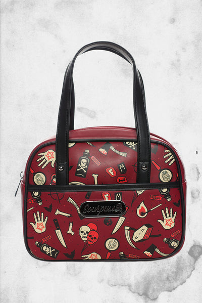 true crime bowler purse horror