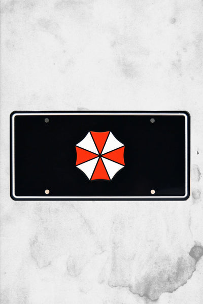 umbrella corp license plate movie replica