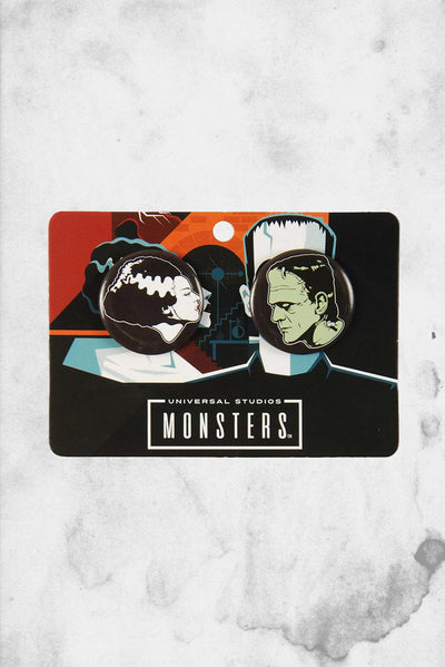 universal monsters button pinback set