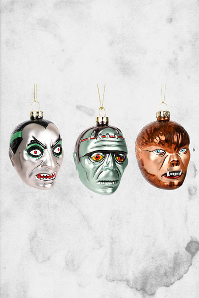 universal monsters christmas ornament set