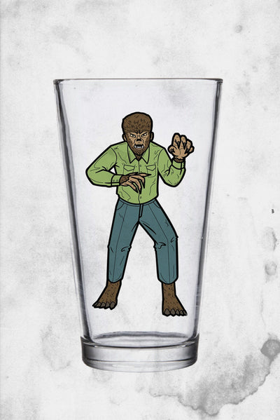 wolfman drinking glass super 7 universal monsters