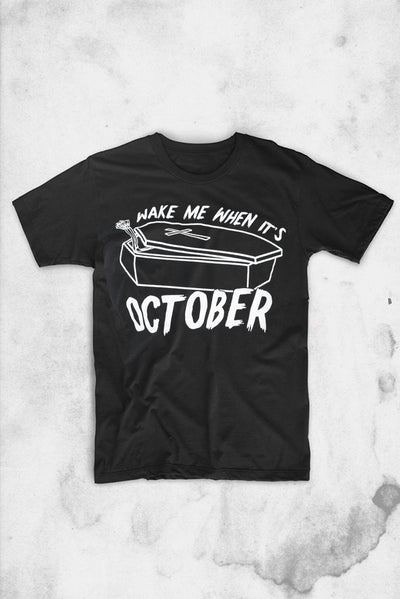 wake me when its october unique vintage t-shirt