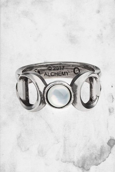 wicca ring triple goddess spooky