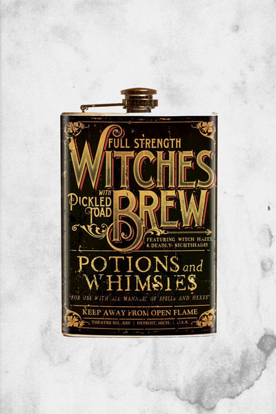 witches brew flask