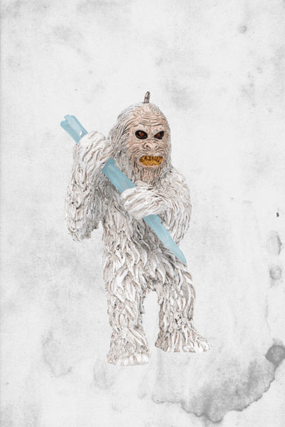 yeti christmas ornament horror
