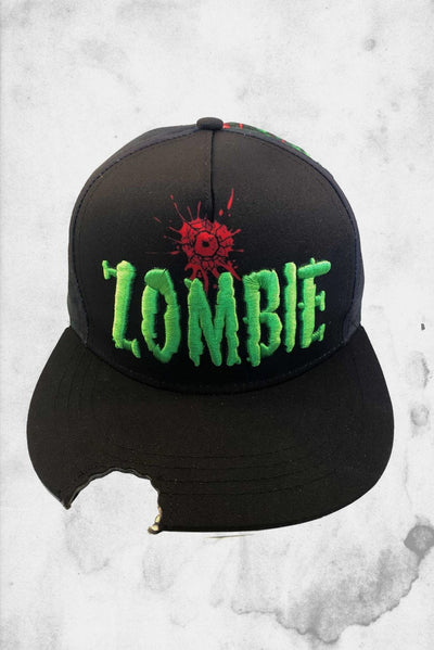 Zombie baseball hat with bit