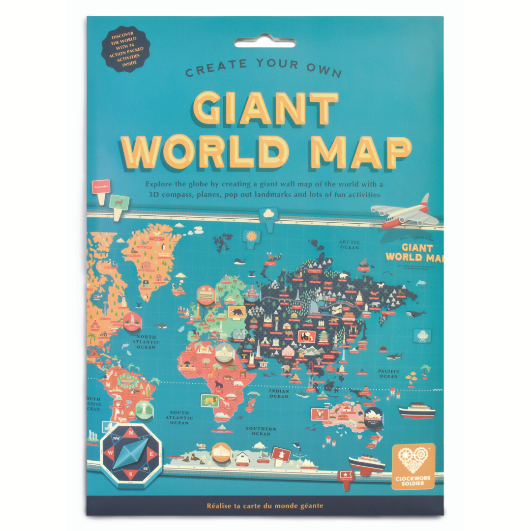 Interactive Giant World Map