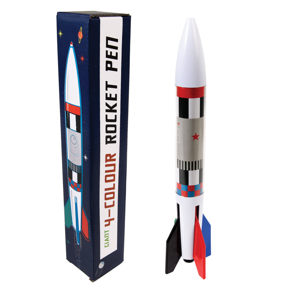 Giant Space Age Rocket Pen