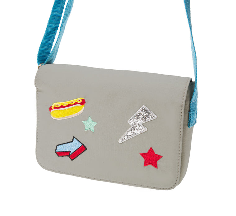 Pop Patch Bag - Grey