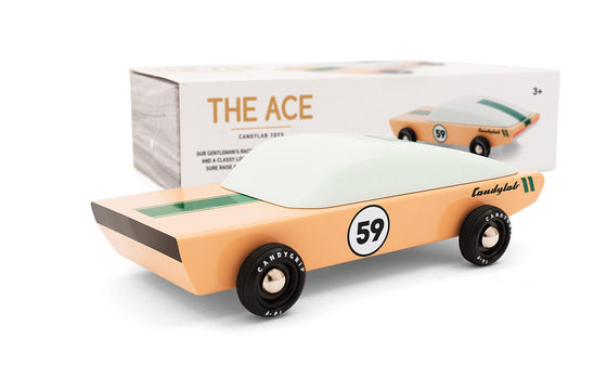 The Ace wooden car from Candylab Toys