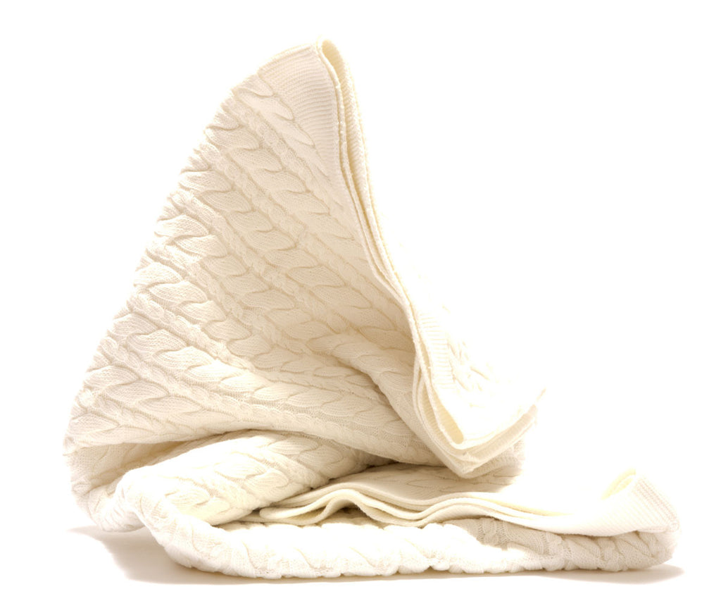 Classic Knit Organic Fair Trade Cotton Baby Blanket