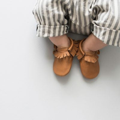 Amy & Ivor Leather Moccasins in Cinnamon