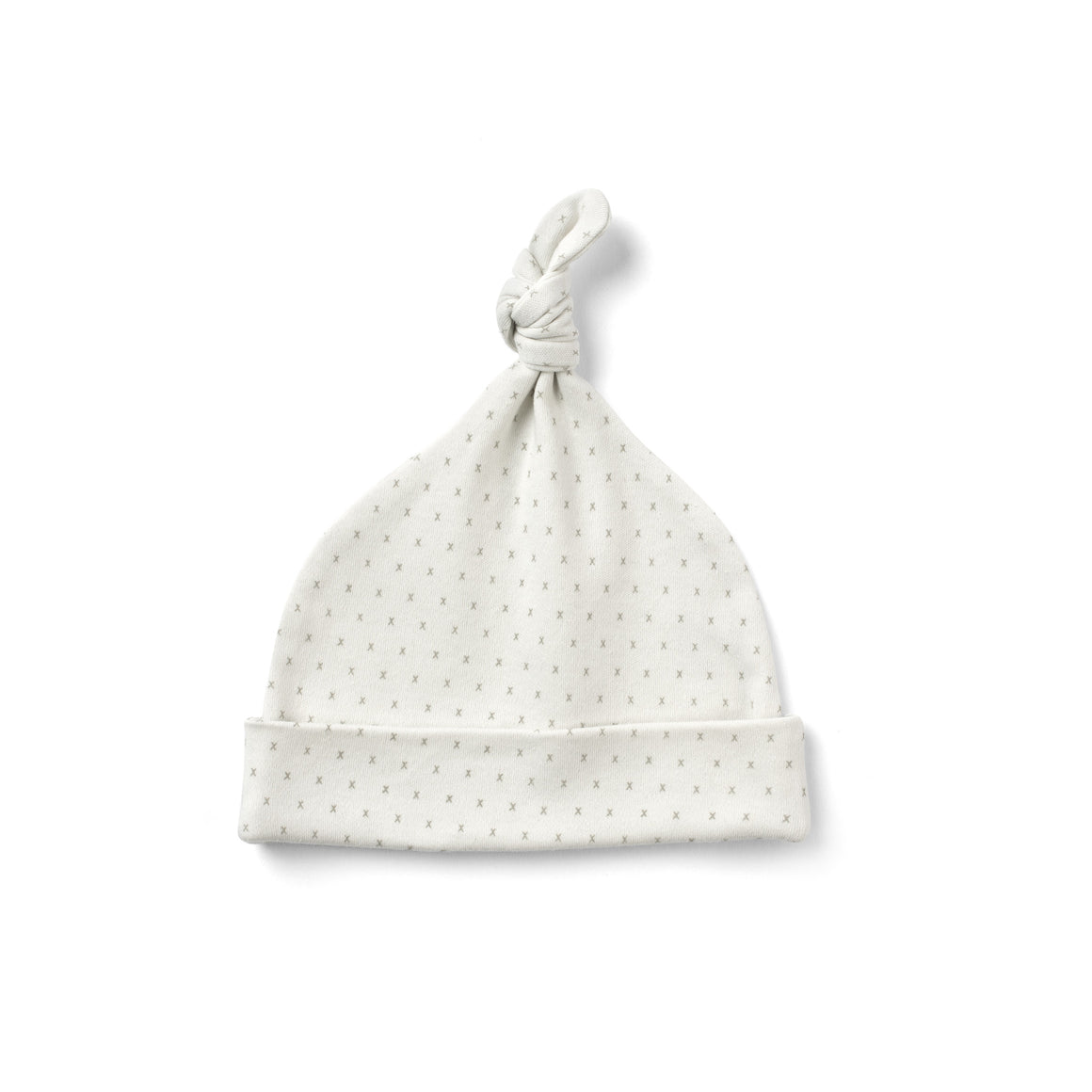 From Babies With Love - French Grey Little Kisses Knotted Baby Hat