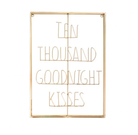 Ten Thousand Goodnight Kisses - Word Art