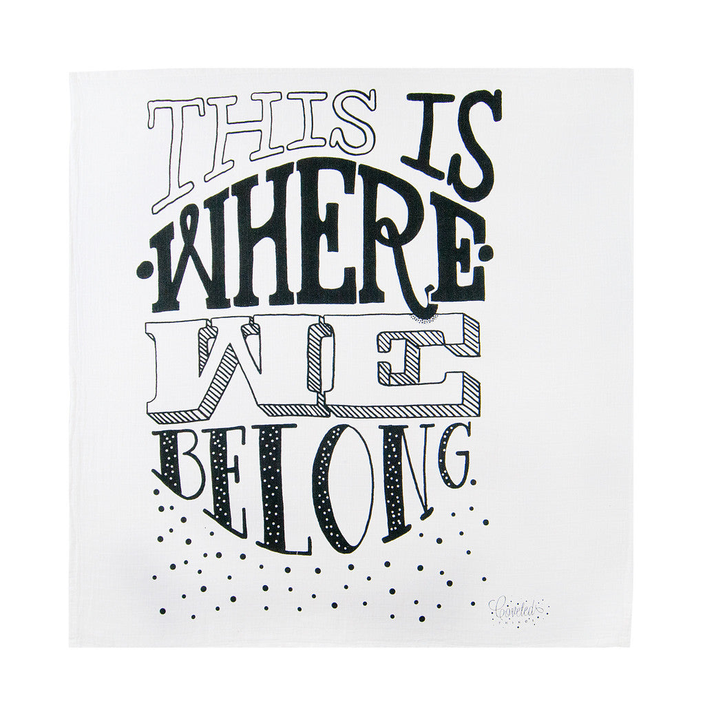 Coveted Things 'Where we belong' Organic Swaddle Scarf