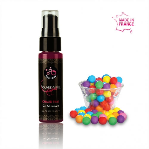 Gel stimulant homme-Bubble gum-CHAUD TIME- - KIMBOXLOV