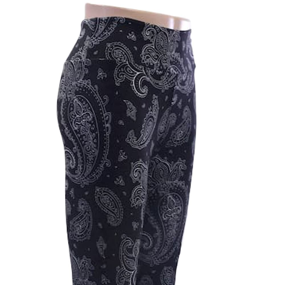Black paisley pattern leggings for women by Jolina Boutique