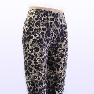 Leopard pattern leggings shown on a mannequin sold by Jolina Boutique