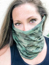 Load image into Gallery viewer, Olive Camo Face Cover/Headband