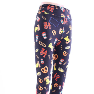 Philadelphia LOVE theme pattern leggings for women