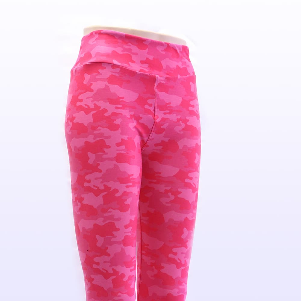 Pink camo leggings for women