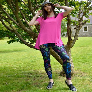 Sassy stylist pattern leggings for women by Jolina Boutique